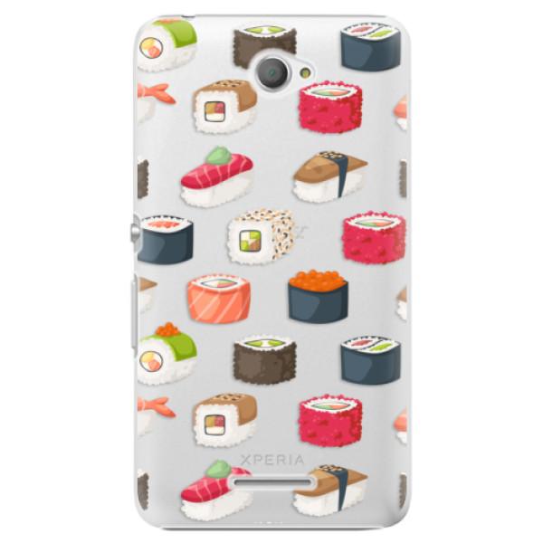 Plastové pouzdro iSaprio - Sushi Pattern - Sony Xperia E4