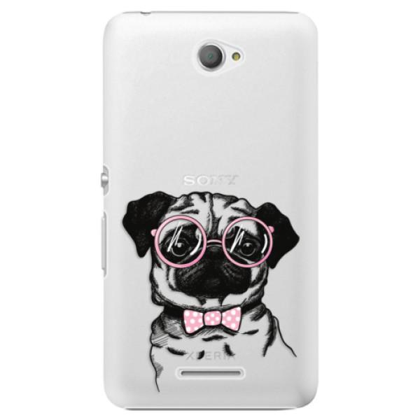 Plastové pouzdro iSaprio - The Pug - Sony Xperia E4