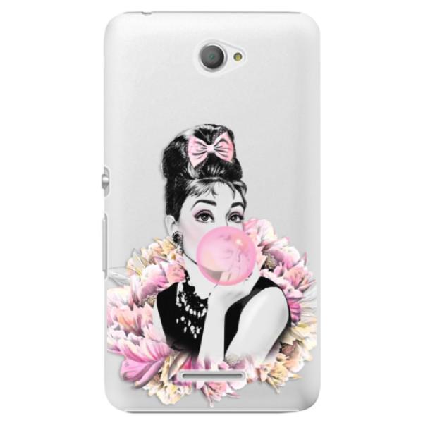 Plastové pouzdro iSaprio - Pink Bubble - Sony Xperia E4