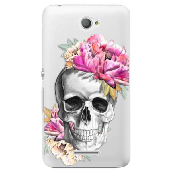 Plastové pouzdro iSaprio - Pretty Skull - Sony Xperia E4