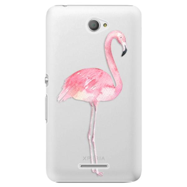 Plastové pouzdro iSaprio - Flamingo 01 - Sony Xperia E4