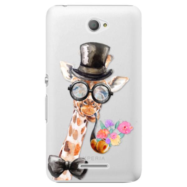 Plastové pouzdro iSaprio - Sir Giraffe - Sony Xperia E4
