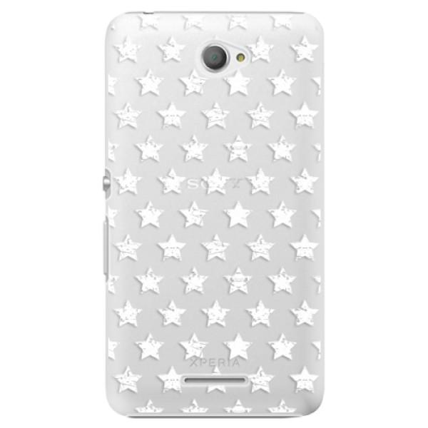 Plastové pouzdro iSaprio - Stars Pattern - white - Sony Xperia E4