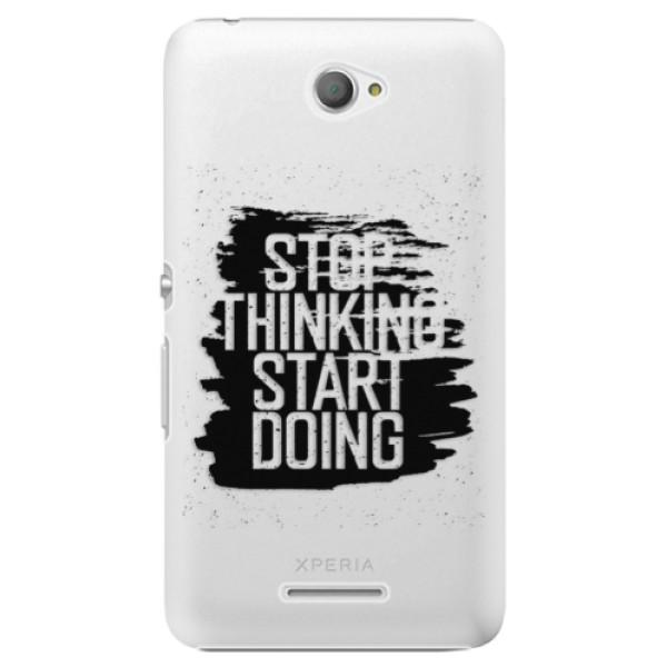 Plastové pouzdro iSaprio - Start Doing - black - Sony Xperia E4