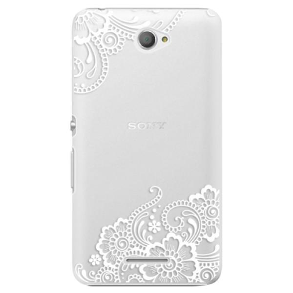 Plastové pouzdro iSaprio - White Lace 02 - Sony Xperia E4