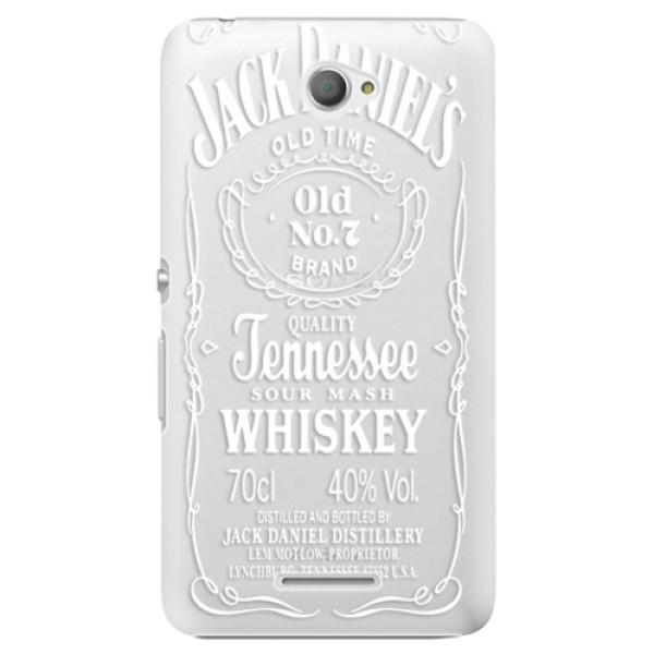 Plastové pouzdro iSaprio - Transparent White Jack - Sony Xperia E4