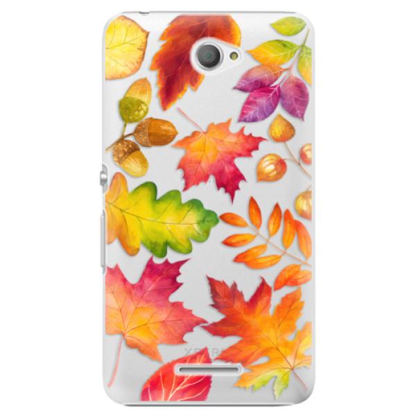 Plastové pouzdro iSaprio - Autumn Leaves 01 - Sony Xperia E4