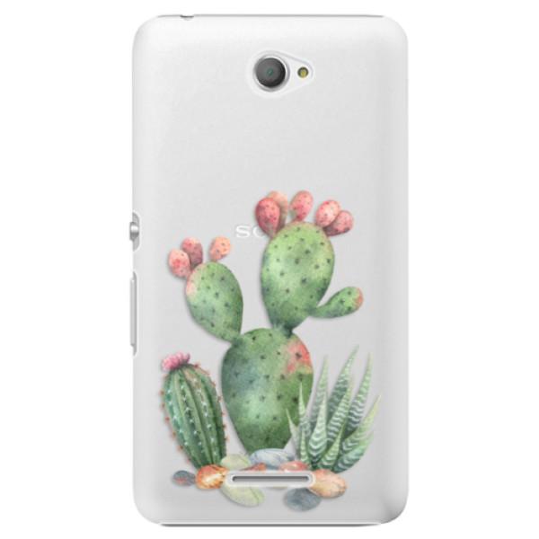 Plastové pouzdro iSaprio - Cacti 01 - Sony Xperia E4