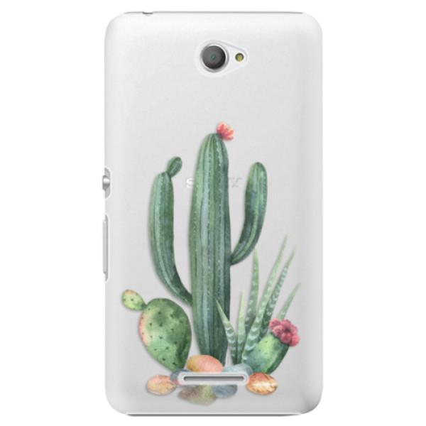 Plastové pouzdro iSaprio - Cacti 02 - Sony Xperia E4