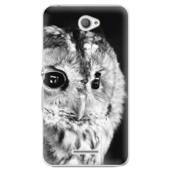 Plastové pouzdro iSaprio - BW Owl - Sony Xperia E4