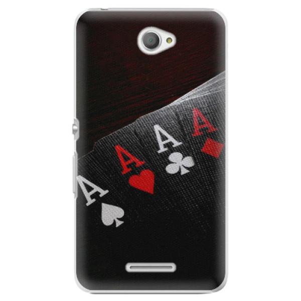 Plastové pouzdro iSaprio - Poker - Sony Xperia E4