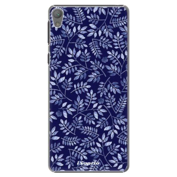 Plastové pouzdro iSaprio - Blue Leaves 05 - Sony Xperia E5