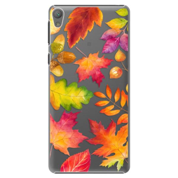 Plastové pouzdro iSaprio - Autumn Leaves 01 - Sony Xperia E5