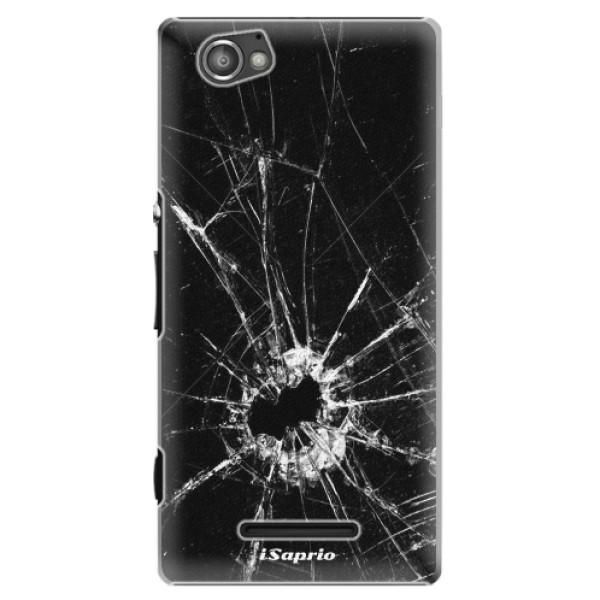 Plastové pouzdro iSaprio - Broken Glass 10 - Sony Xperia M