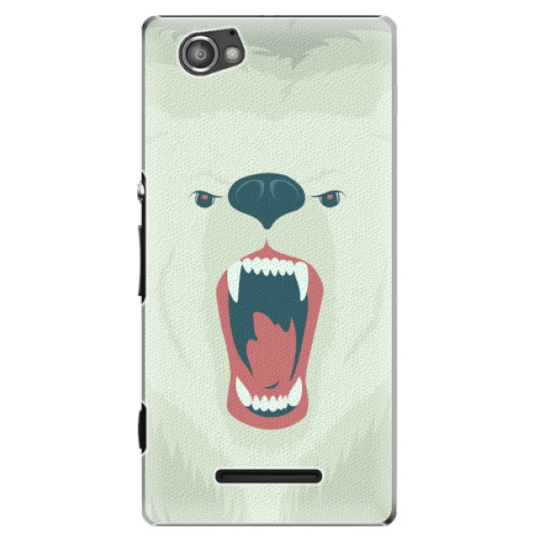 Plastové pouzdro iSaprio - Angry Bear - Sony Xperia M