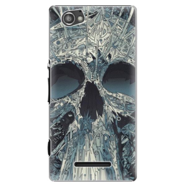 Plastové pouzdro iSaprio - Abstract Skull - Sony Xperia M