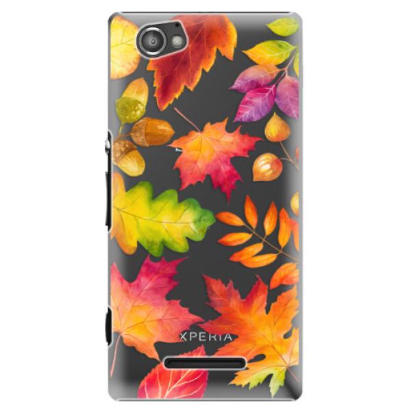Plastové pouzdro iSaprio - Autumn Leaves 01 - Sony Xperia M