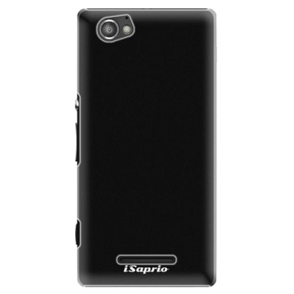Plastové pouzdro iSaprio - 4Pure - černý - Sony Xperia M