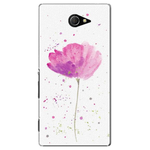 Plastové pouzdro iSaprio - Poppies - Sony Xperia M2