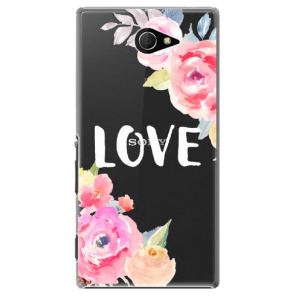 Plastové pouzdro iSaprio - Love - Sony Xperia M2