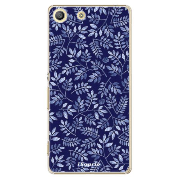 Plastové pouzdro iSaprio - Blue Leaves 05 - Sony Xperia M5