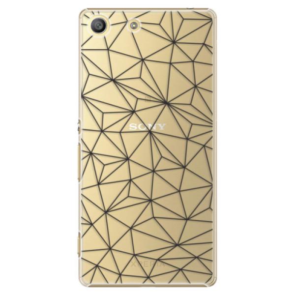 Plastové pouzdro iSaprio - Abstract Triangles 03 - black - Sony Xperia M5