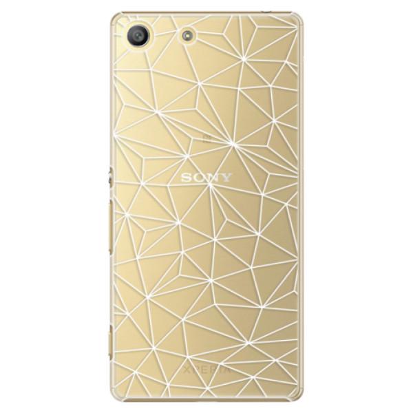 Plastové pouzdro iSaprio - Abstract Triangles 03 - white - Sony Xperia M5