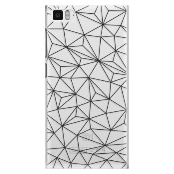 Plastové pouzdro iSaprio - Abstract Triangles 03 - black - Xiaomi Mi3