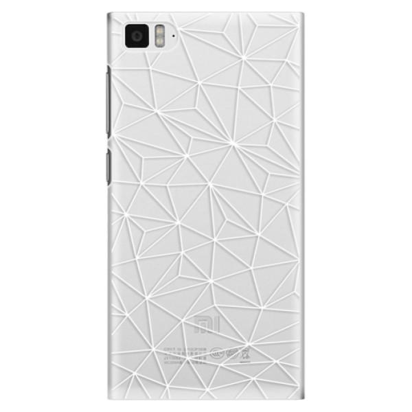 Plastové pouzdro iSaprio - Abstract Triangles 03 - white - Xiaomi Mi3