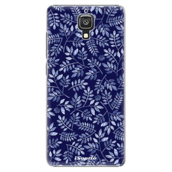 Plastové pouzdro iSaprio - Blue Leaves 05 - Xiaomi Mi4