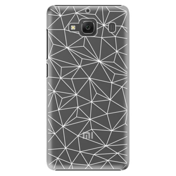 Plastové pouzdro iSaprio - Abstract Triangles 03 - white - Xiaomi Redmi 2