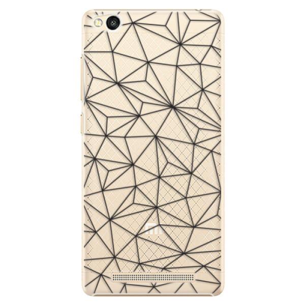 Plastové pouzdro iSaprio - Abstract Triangles 03 - black - Xiaomi Redmi 3
