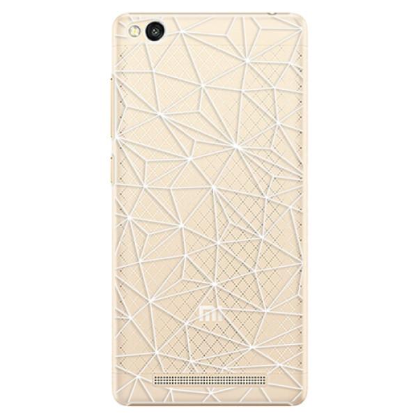 Plastové pouzdro iSaprio - Abstract Triangles 03 - white - Xiaomi Redmi 3