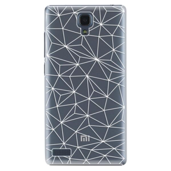 Plastové pouzdro iSaprio - Abstract Triangles 03 - white - Xiaomi Redmi Note
