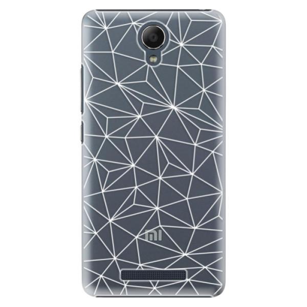 Plastové pouzdro iSaprio - Abstract Triangles 03 - white - Xiaomi Redmi Note 2