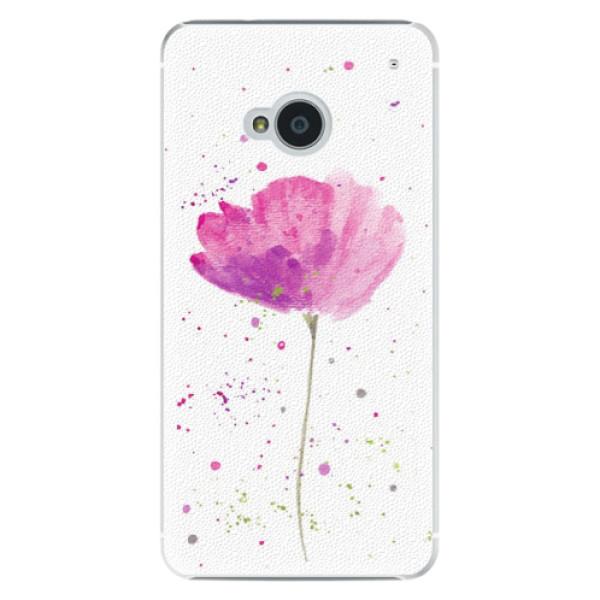 Plastové pouzdro iSaprio - Poppies - HTC One M7