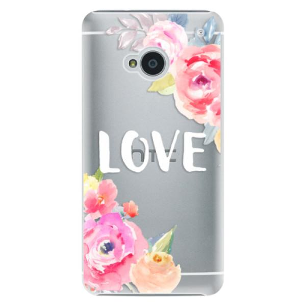 Plastové pouzdro iSaprio - Love - HTC One M7