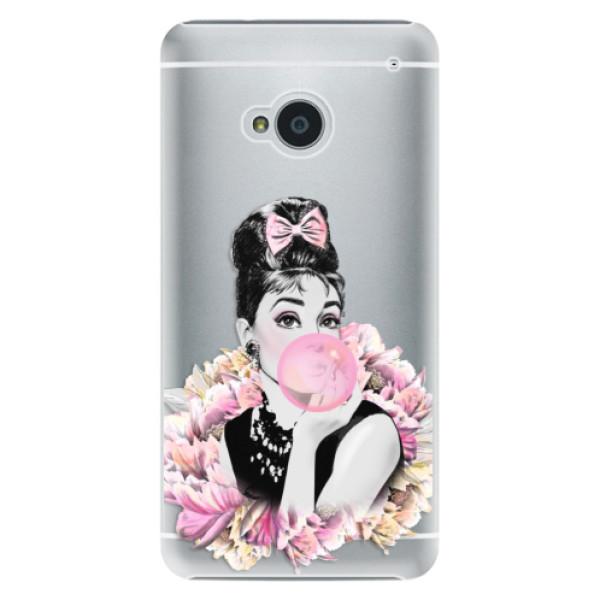 Plastové pouzdro iSaprio - Pink Bubble - HTC One M7