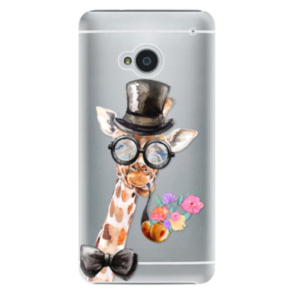 Plastové pouzdro iSaprio - Sir Giraffe - HTC One M7