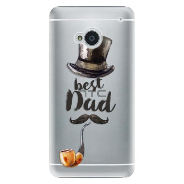Plastové pouzdro iSaprio - Best Dad - HTC One M7