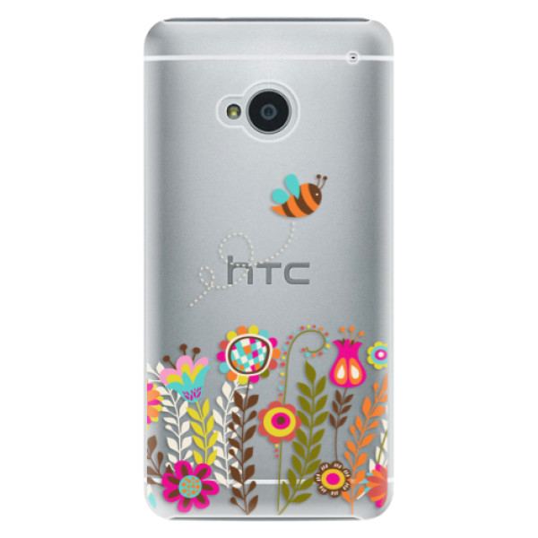 Plastové pouzdro iSaprio - Bee 01 - HTC One M7