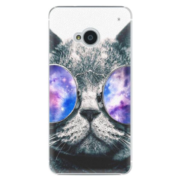 Plastové pouzdro iSaprio - Galaxy Cat - HTC One M7