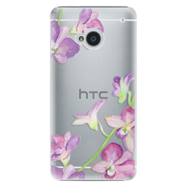 Plastové pouzdro iSaprio - Purple Orchid - HTC One M7