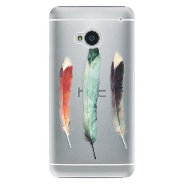 Plastové pouzdro iSaprio - Three Feathers - HTC One M7