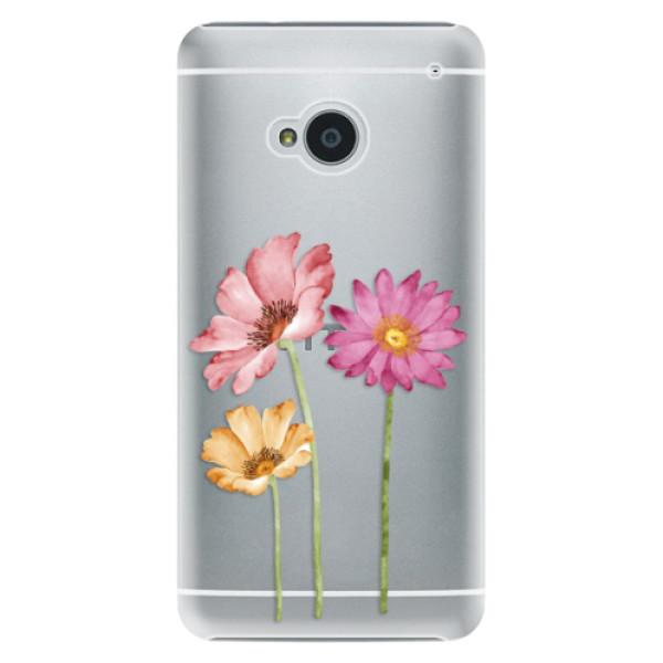 Plastové pouzdro iSaprio - Three Flowers - HTC One M7
