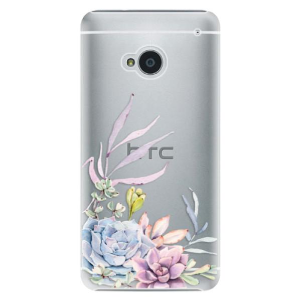 Plastové pouzdro iSaprio - Succulent 01 - HTC One M7
