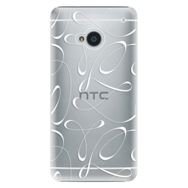 Plastové pouzdro iSaprio - Fancy - white - HTC One M7