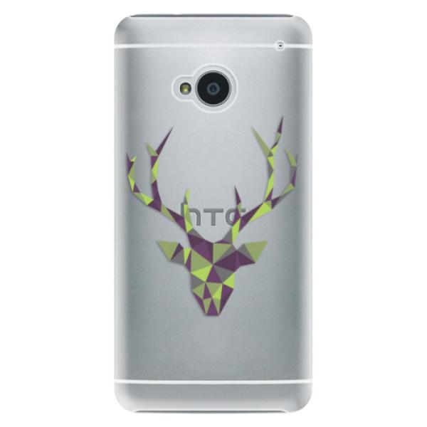 Plastové pouzdro iSaprio - Deer Green - HTC One M7