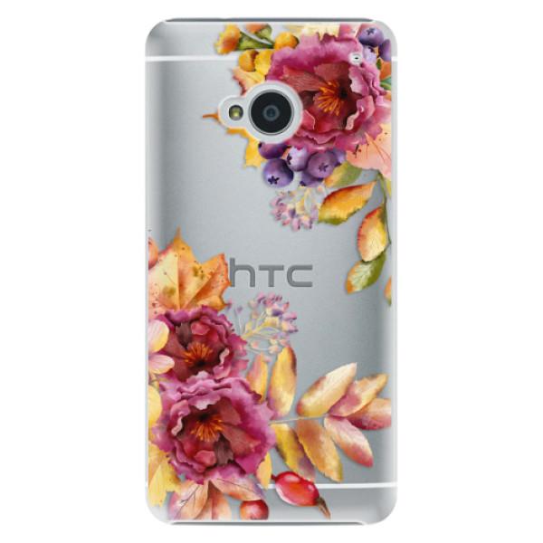 Plastové pouzdro iSaprio - Fall Flowers - HTC One M7