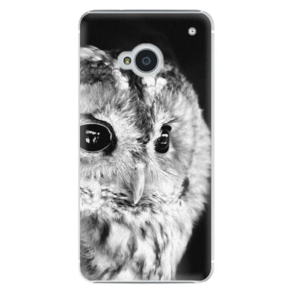 Plastové pouzdro iSaprio - BW Owl - HTC One M7